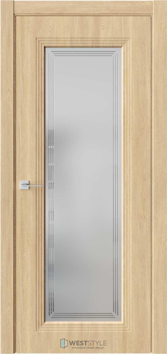 Межкомнатная дверь Monte 2 Сенди стекло