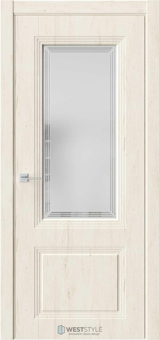Межкомнатная дверь Monte 4 Дуб Джентл стекло