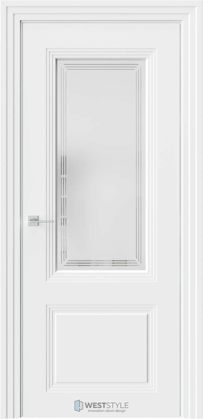 Межкомнатная дверь Monte 4 Emlayer белый стекло