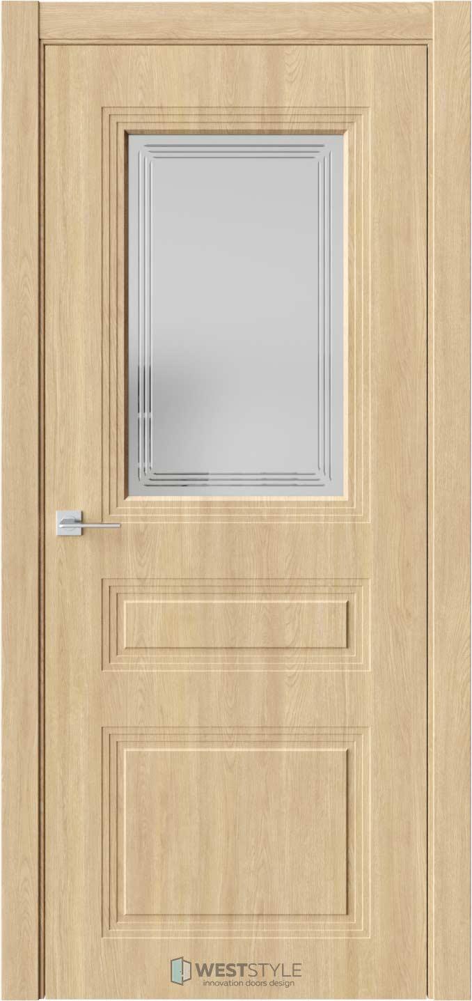 Межкомнатная дверь Monte 8 Сенди стекло