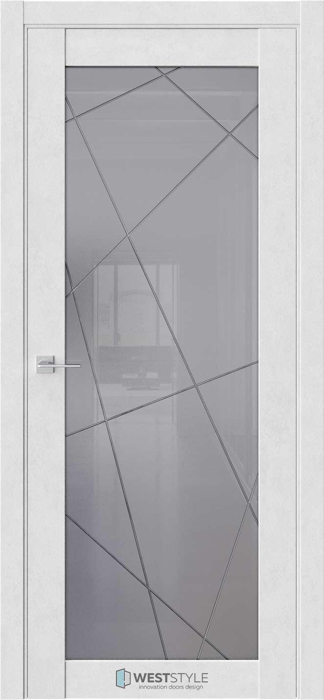 Межкомнатная дверь Межкомнатная дверь NR 2 P1 Бетон лайт стекло
