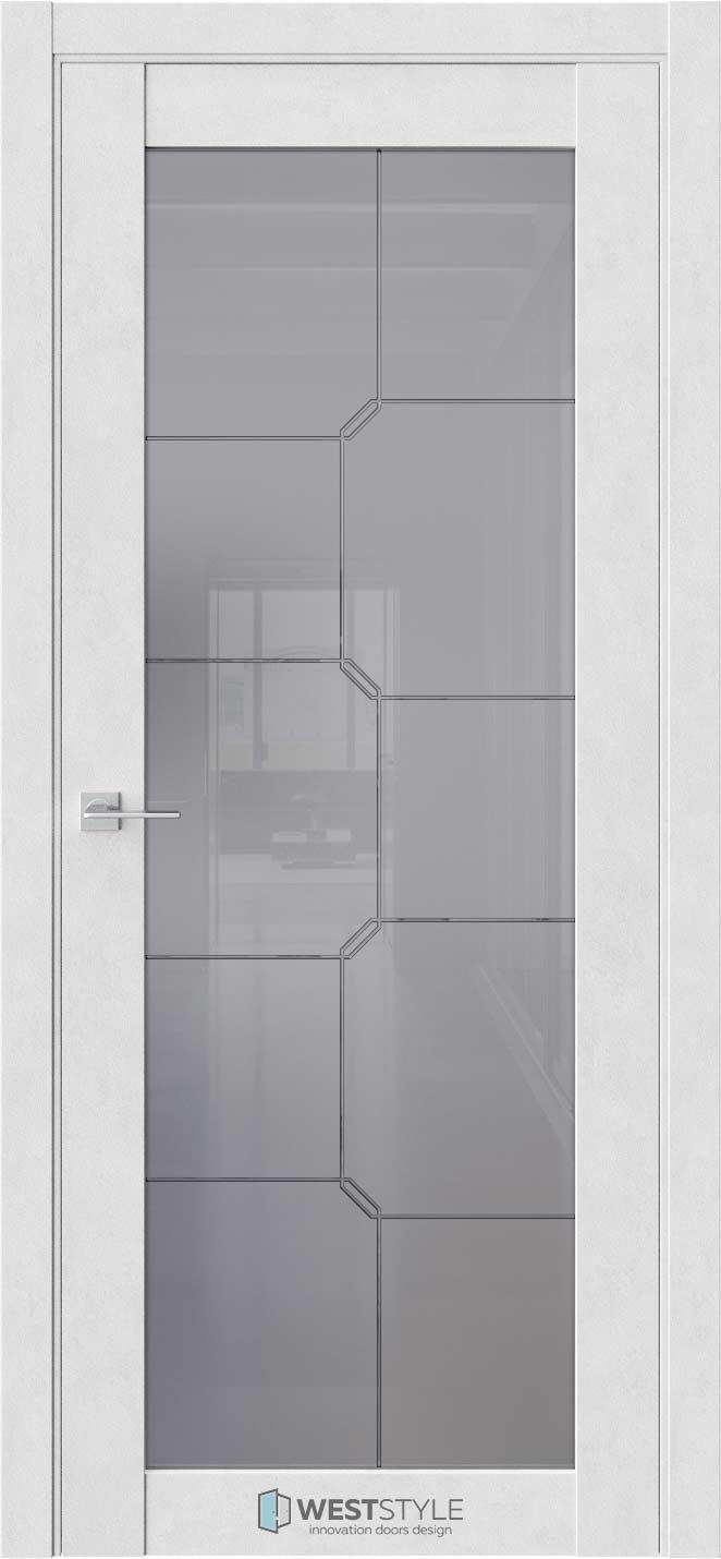 Межкомнатная дверь Межкомнатная дверь NR 2 P10 Бетон лайт стекло