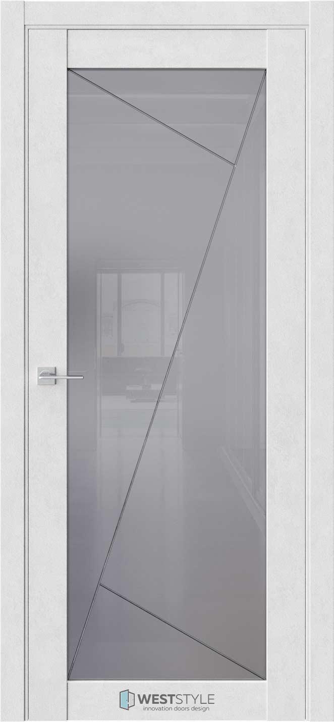 Межкомнатная дверь Межкомнатная дверь NR 2 P11 Бетон лайт стекло