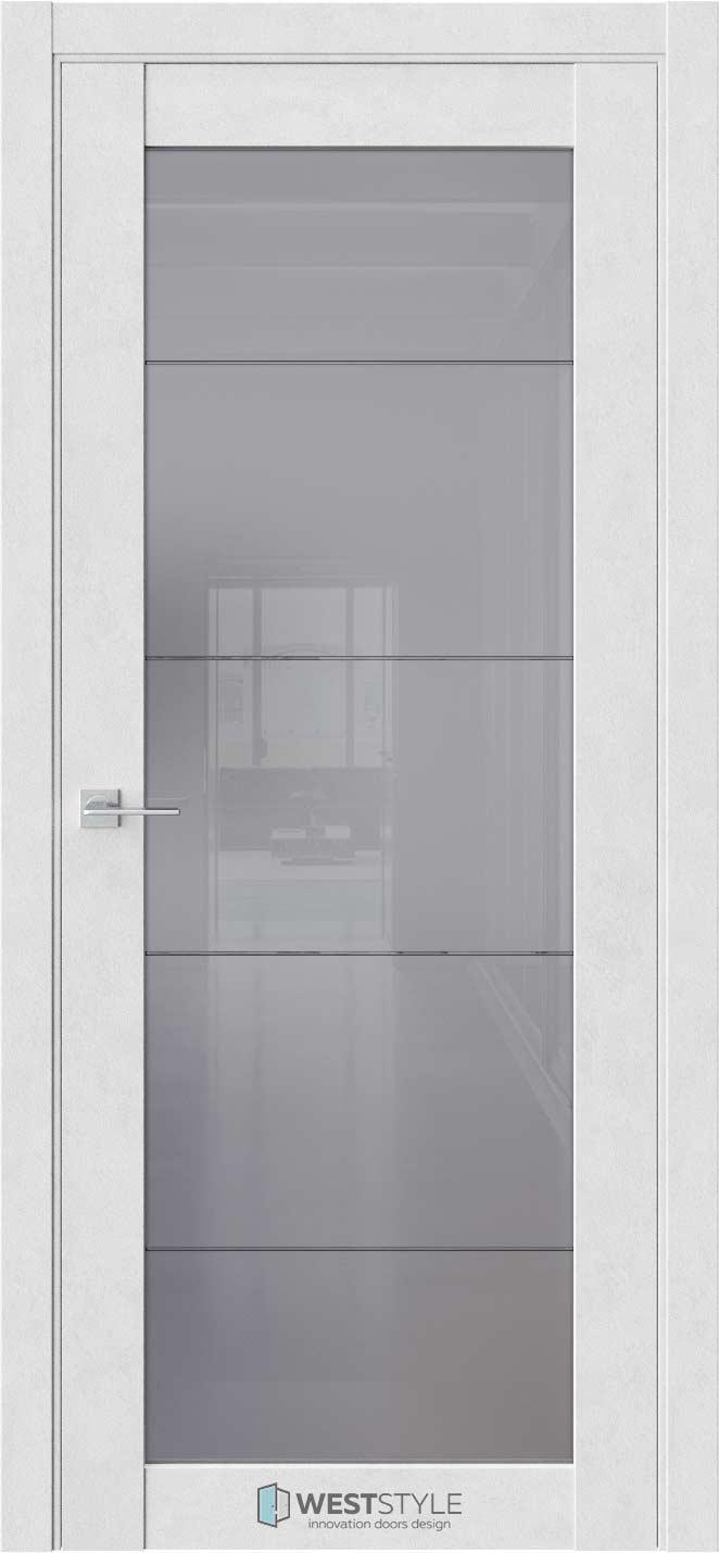 Межкомнатная дверь Межкомнатная дверь NR 2 P2 Бетон лайт стекло