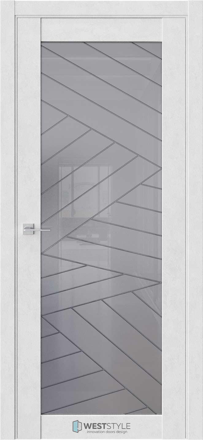 Межкомнатная дверь Межкомнатная дверь NR 2 P7 Бетон лайт стекло