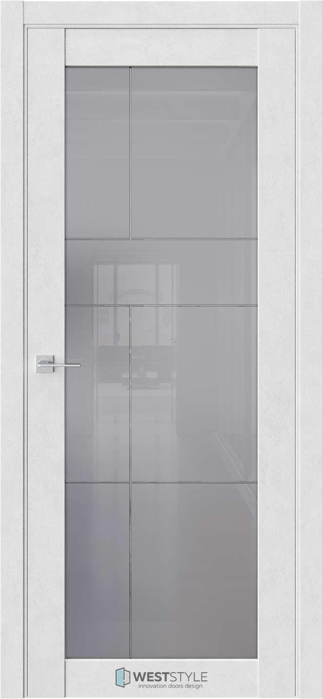 Межкомнатная дверь Межкомнатная дверь NR 2 P9 Бетон лайт стекло