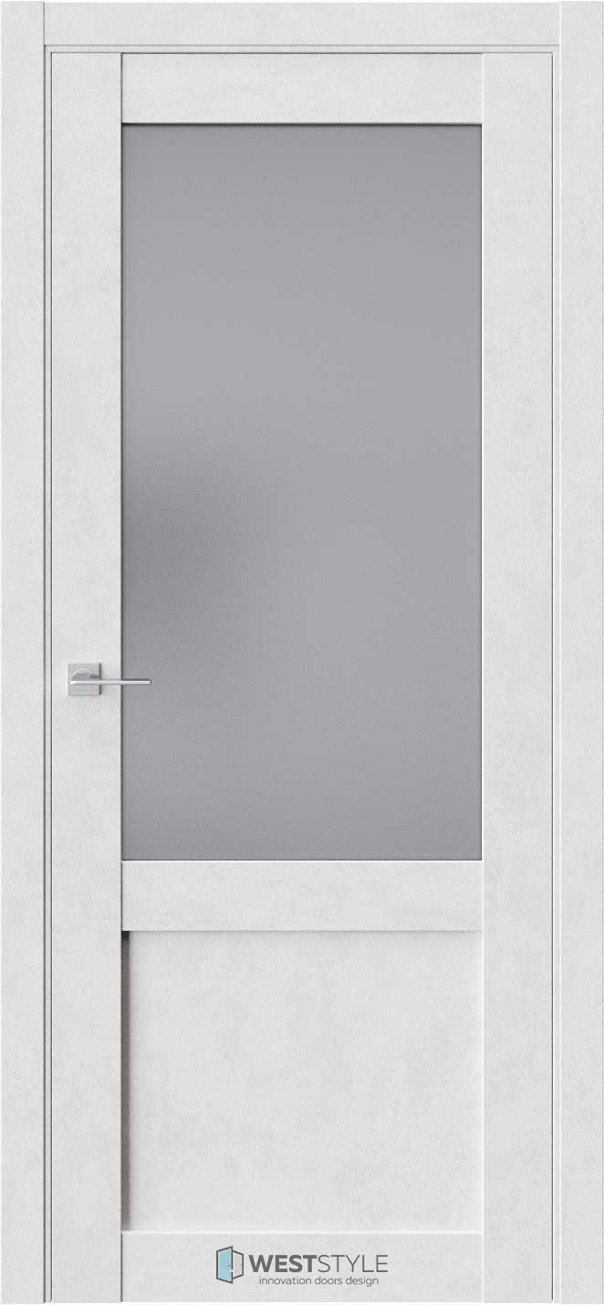 Межкомнатная дверь Межкомнатная дверь NR 4 Бетон лайт стекло