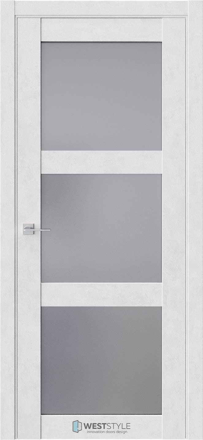 Межкомнатная дверь Межкомнатная дверь NR 6 Бетон лайт стекло