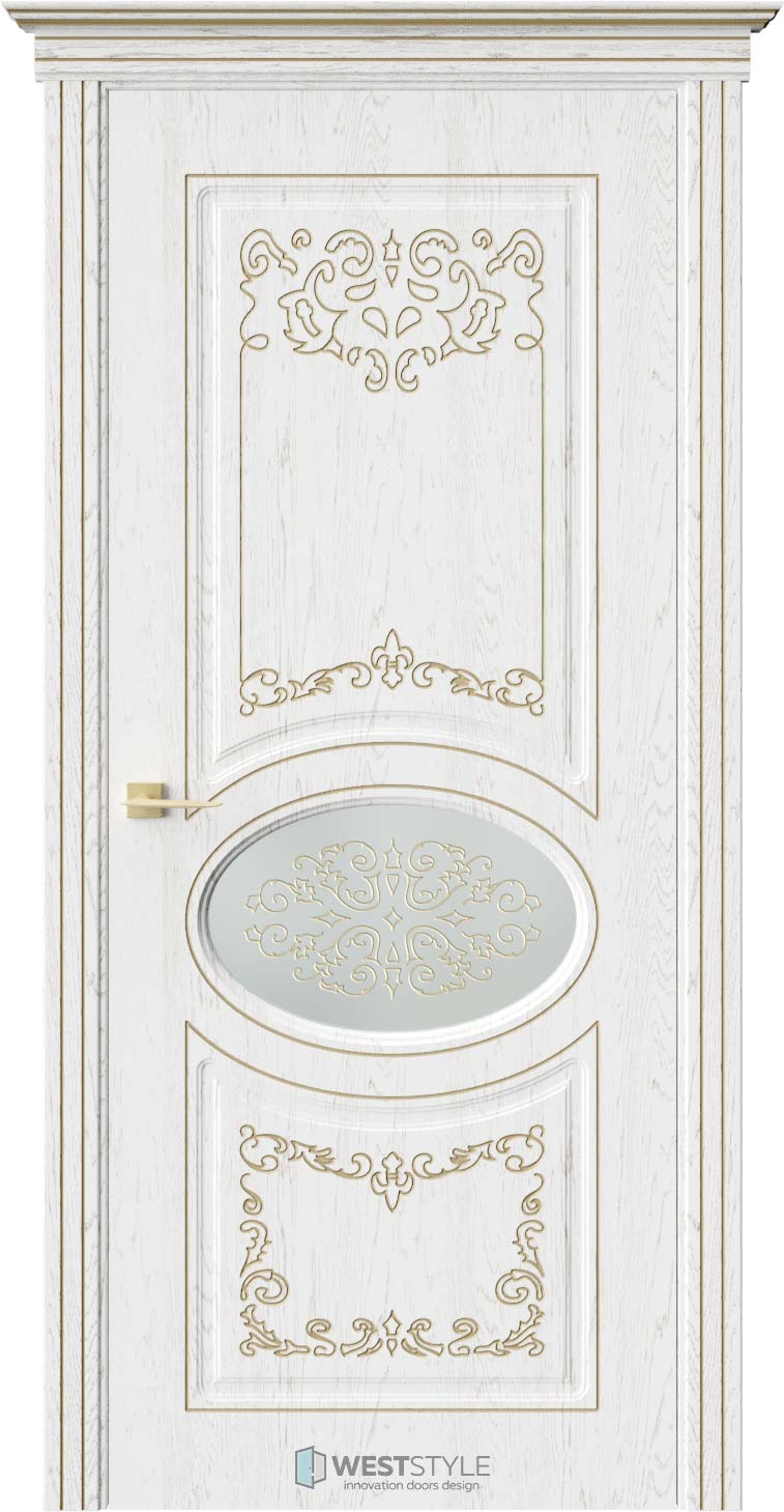 Межкомнатная дверь ПРЕЗИДЕНТ Дуб Винта стекло 2