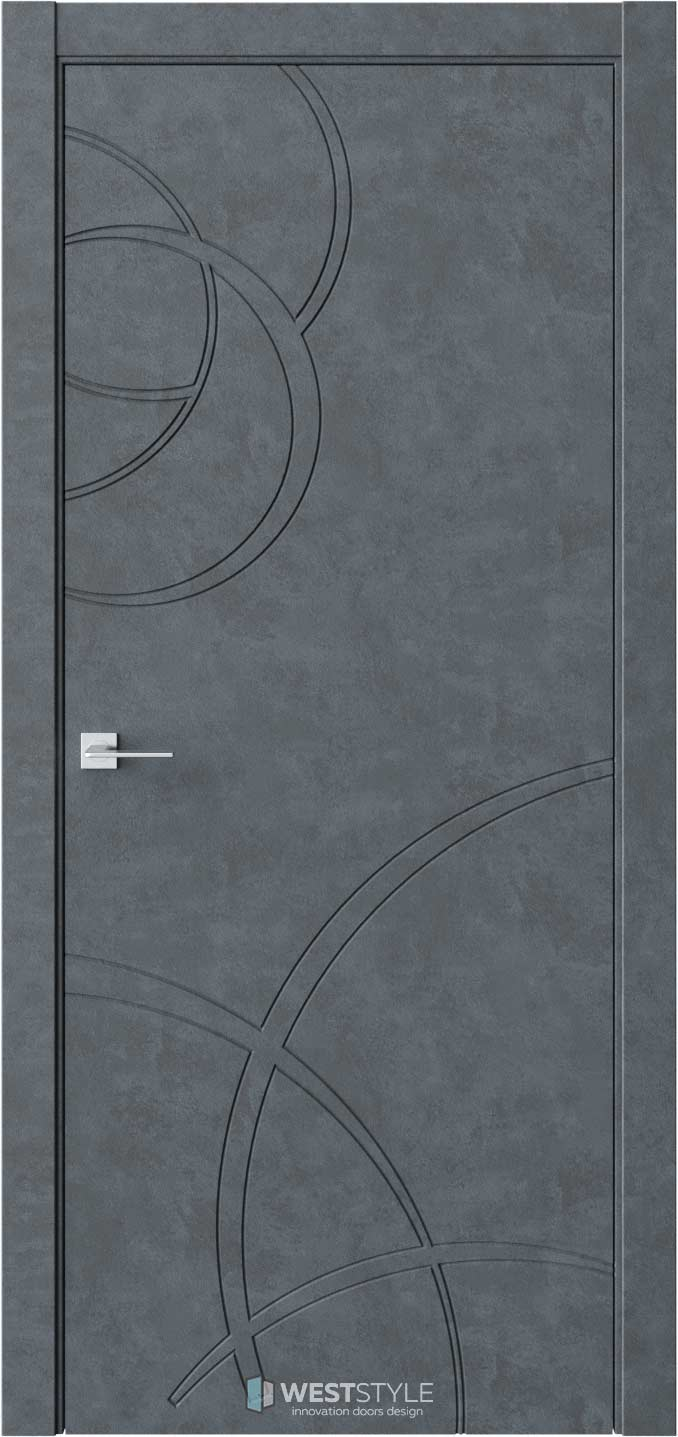 Межкомнатная дверь Prime P6 Бетон Маренго