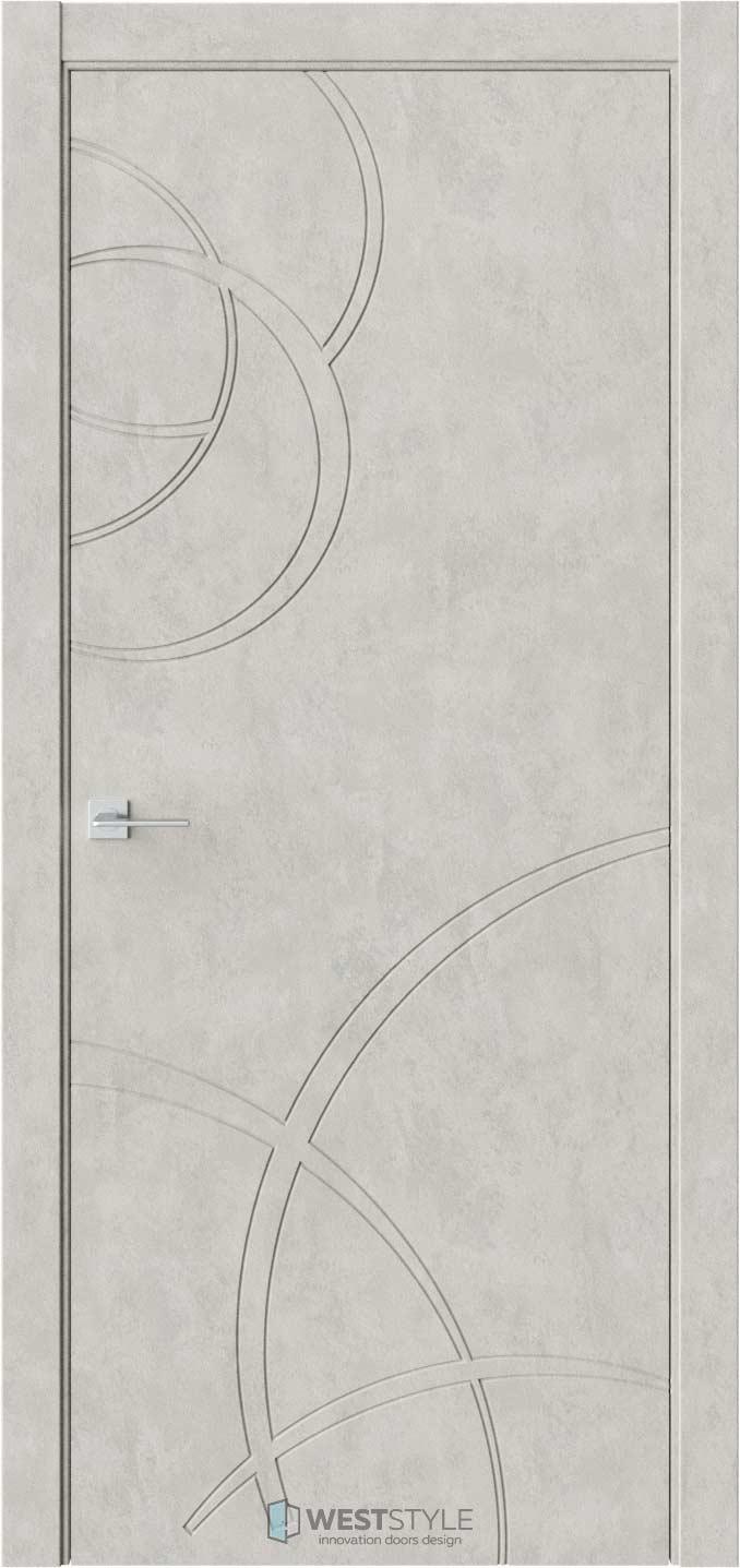 Межкомнатная дверь Prime P6 Бетон смоки