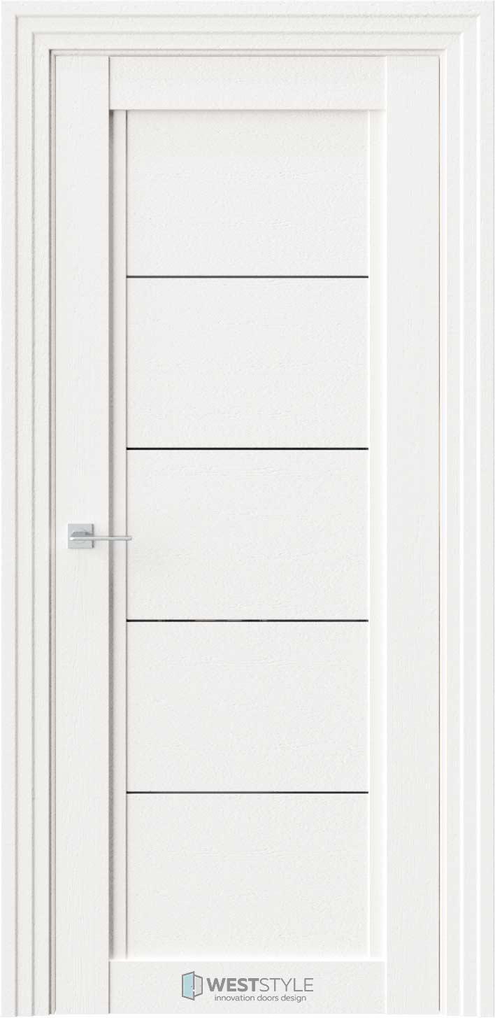 Межкомнатная дверь QP 1 Даймонд черное стекло