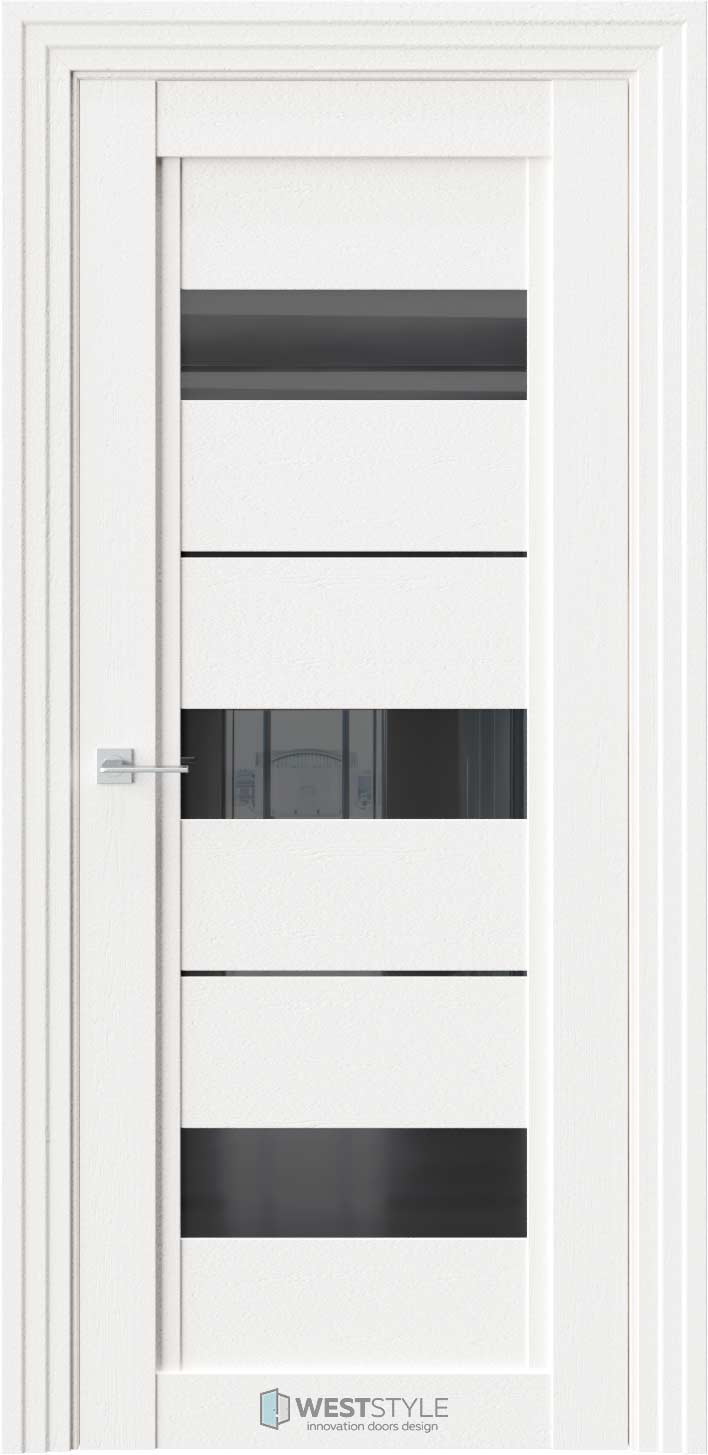Межкомнатная дверь QP 7 Даймонд черное стекло