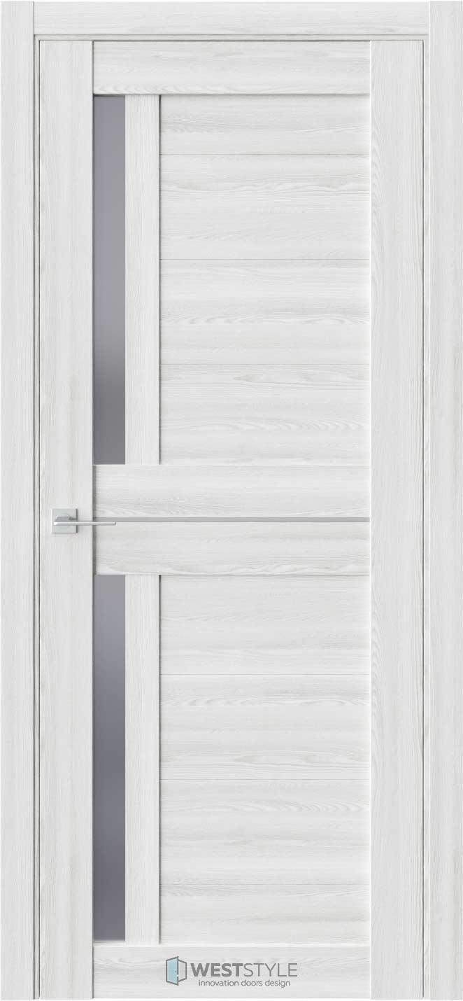 Межкомнатная дверь RE26 Клён Айс стекло