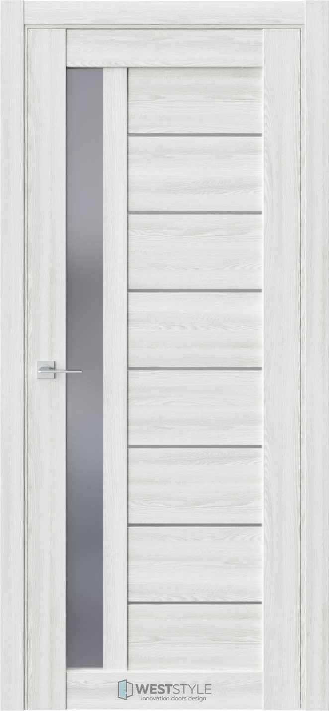 Межкомнатная дверь RE37 Клён Айс стекло
