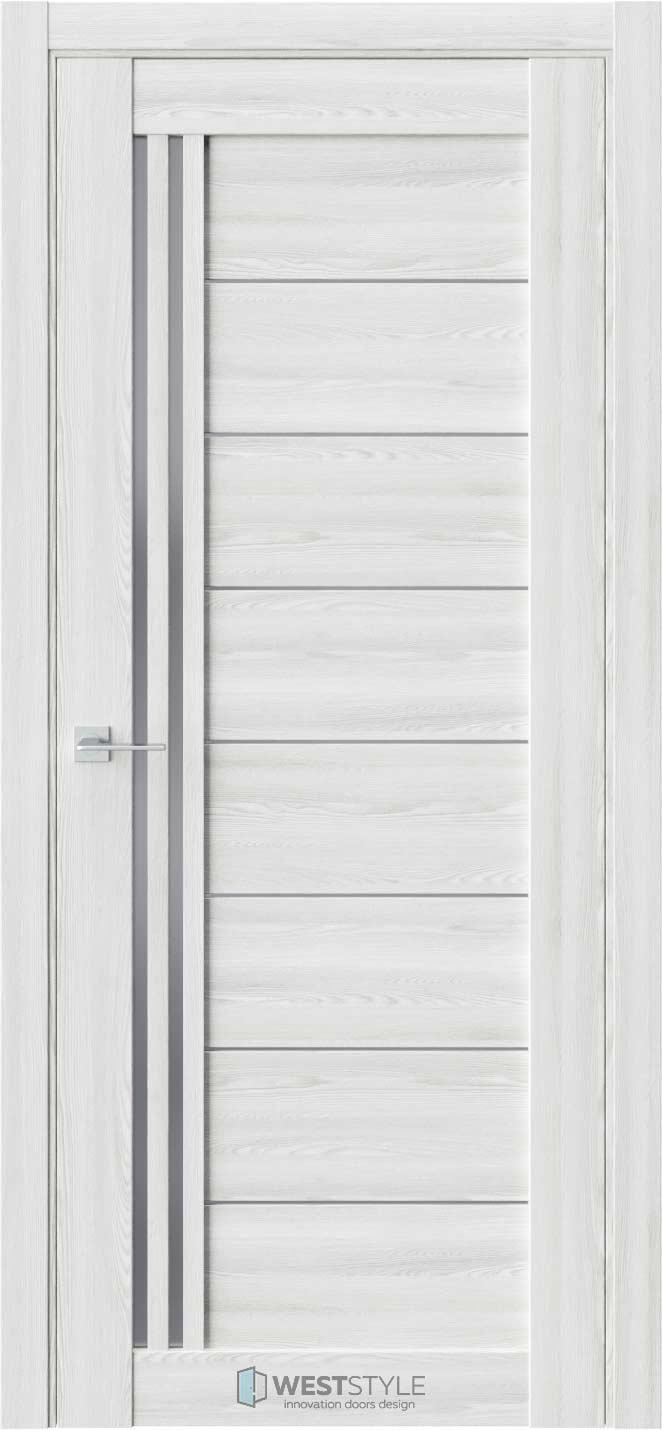Межкомнатная дверь RE58 Клён Айс стекло