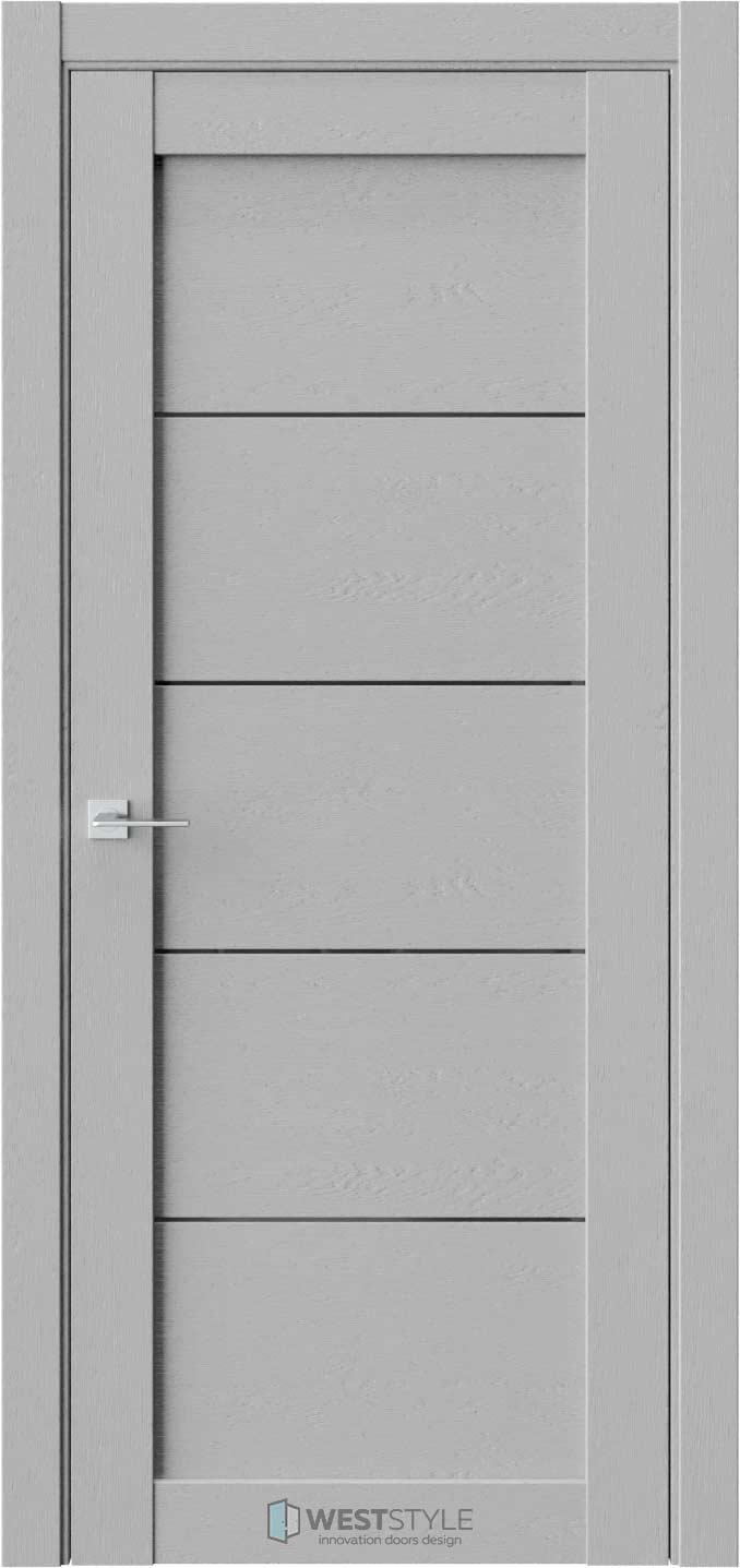 Межкомнатная дверь RL 1 Интенсо черное стекло