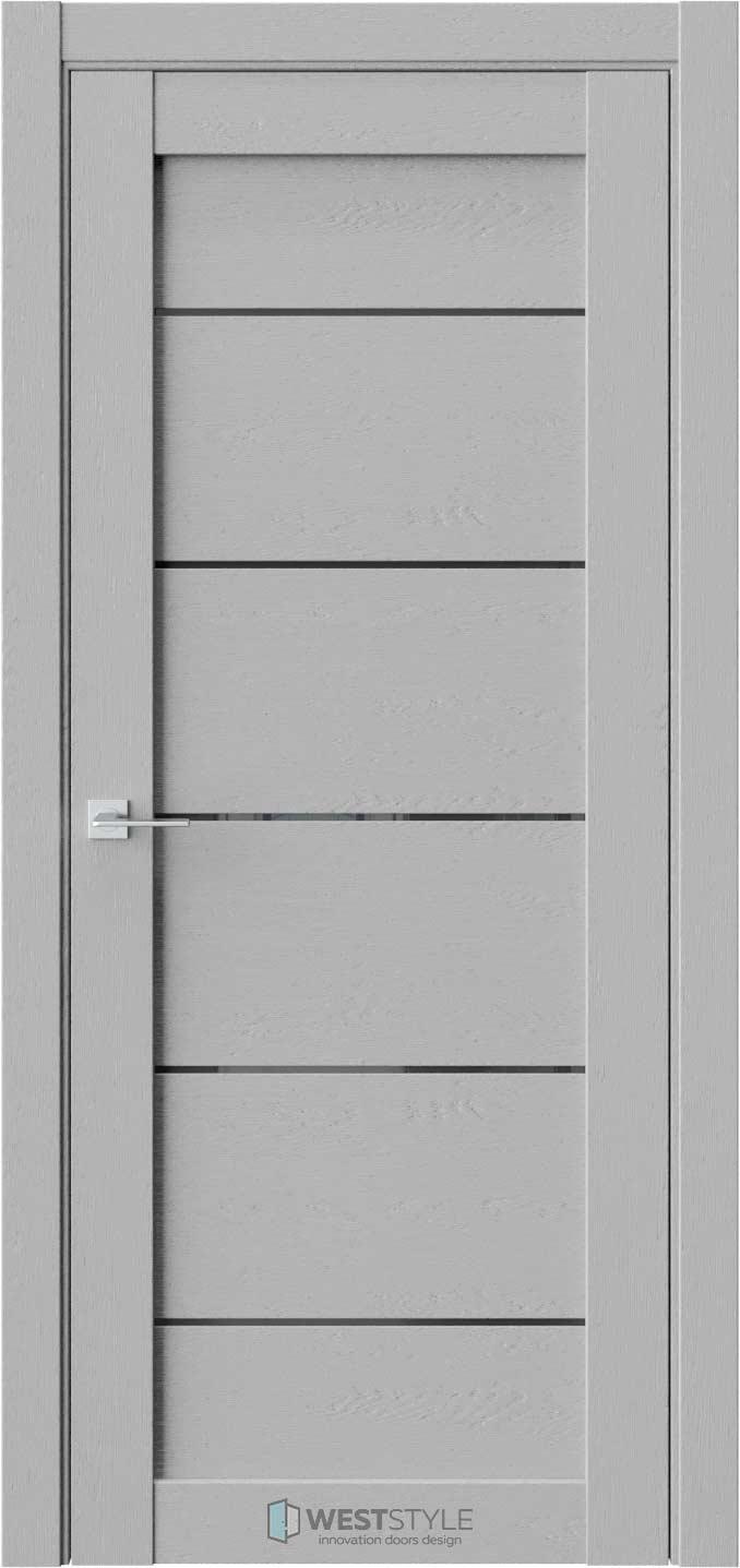 Межкомнатная дверь RL 3 Интенсо черное стекло