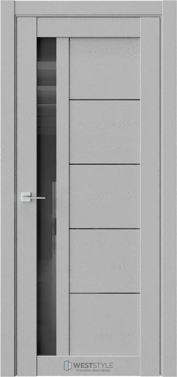 Межкомнатная дверь RL 4 Интенсо черное стекло