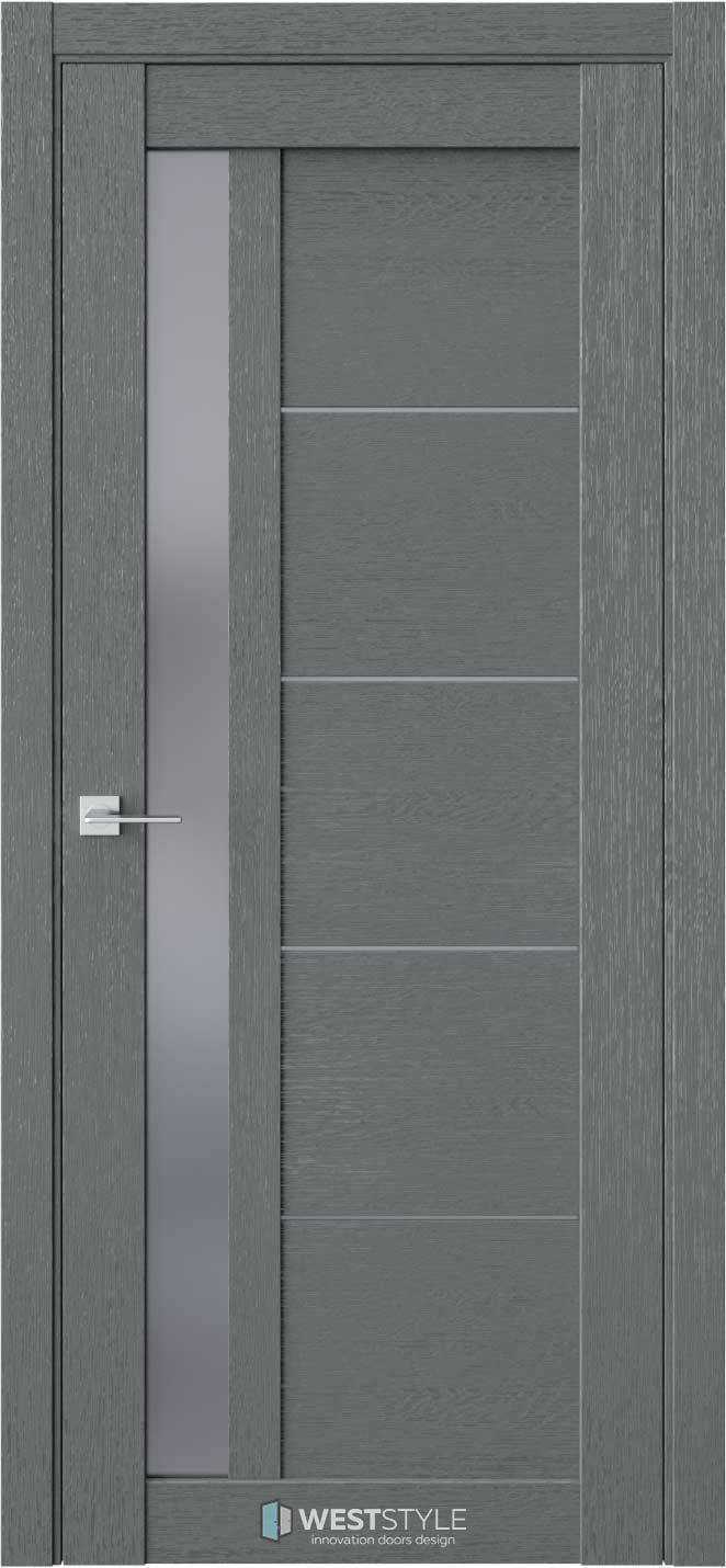 Межкомнатная дверь RL 4 Сильвер стекло-графит