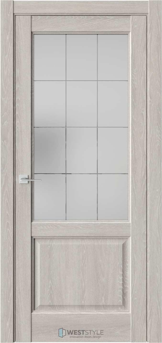 Межкомнатная дверь SE 4 Дуб Серый стекло 1