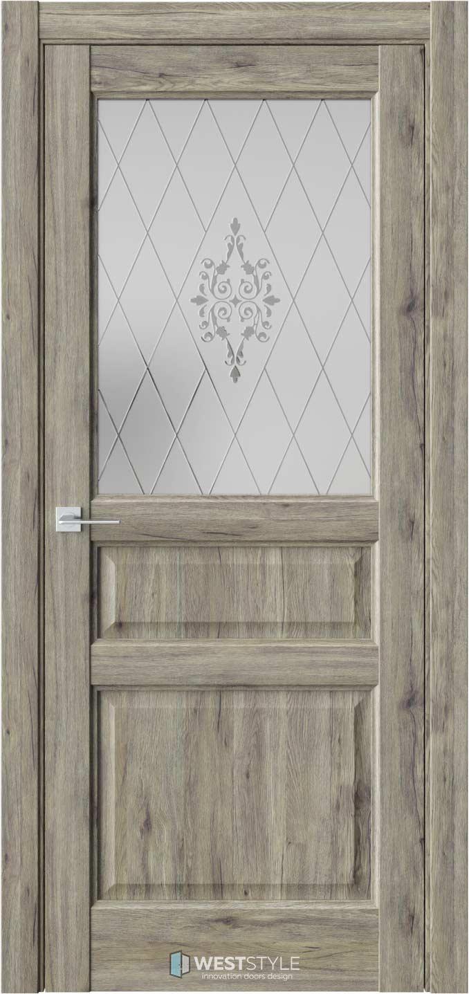 Межкомнатная дверь SE 8 Дуб Эссе стекло 1