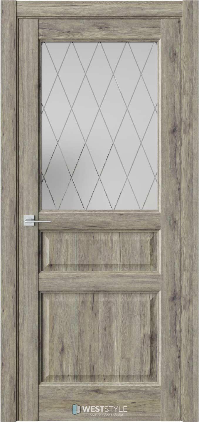 Межкомнатная дверь SE 8 Дуб Эссе стекло 2