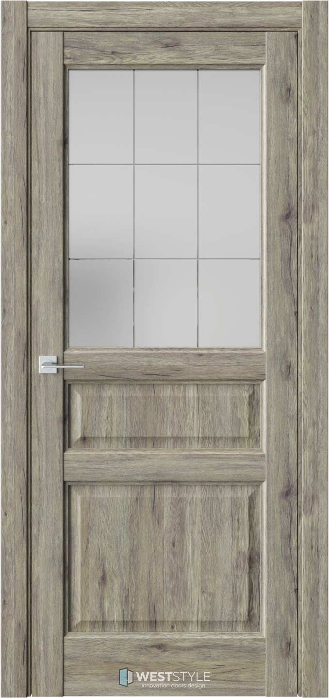 Межкомнатная дверь SE 8 Дуб Эссе стекло 3