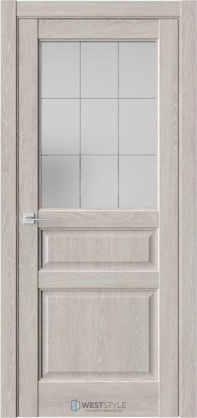 Межкомнатная дверь SE 8 Дуб Серый стекло 3