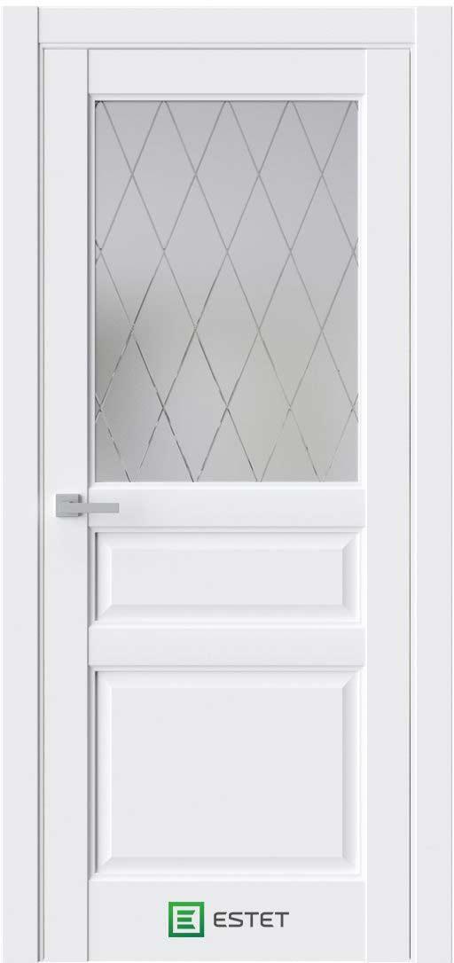Межкомнатная дверь Межкомнатная дверь Sonata S8 Айс белое стекло 2