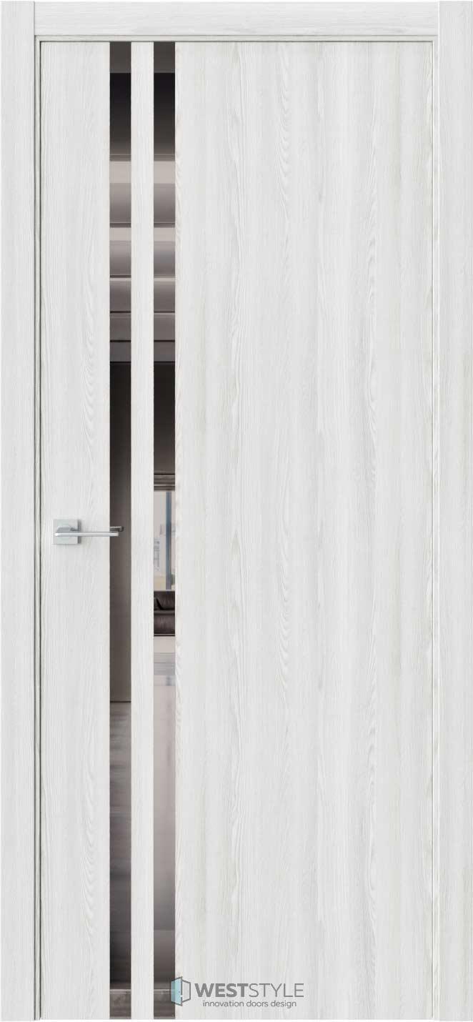 Межкомнатная дверь СТЕЛЛА 2 Клён Айс стекло-зеркало