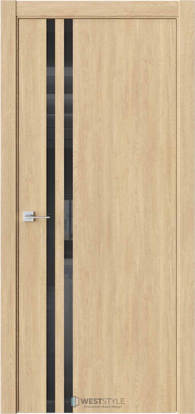 Межкомнатная дверь СТЕЛЛА 2 Сенди черное стекло