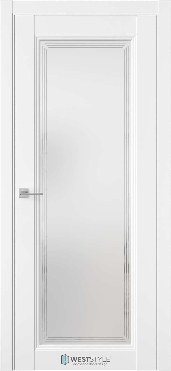 Межкомнатная дверь Межкомнатная дверь TF 2 Emlayer белый стекло 1