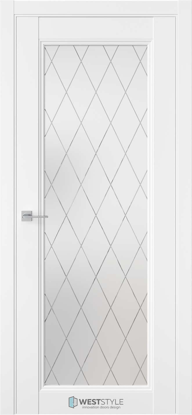 Межкомнатная дверь Межкомнатная дверь TF 2 Emlayer белый стекло 2