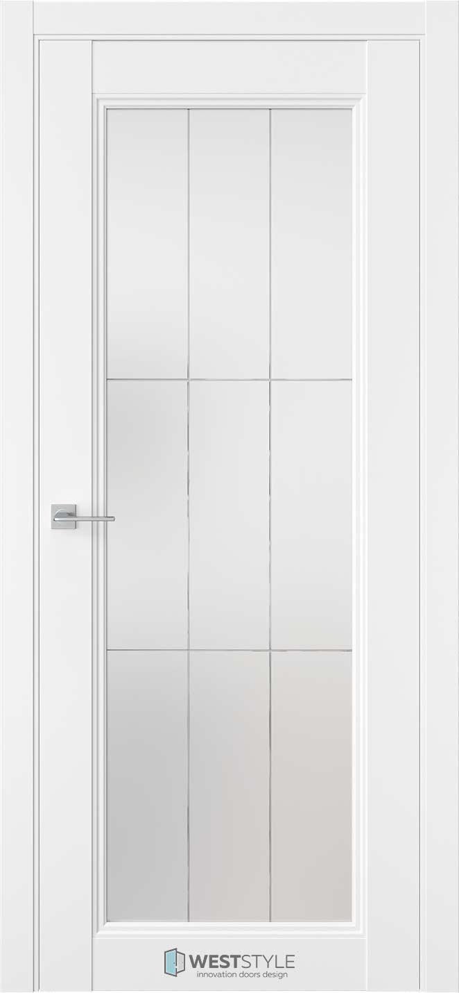 Межкомнатная дверь Межкомнатная дверь TF 2 Emlayer белый стекло 3
