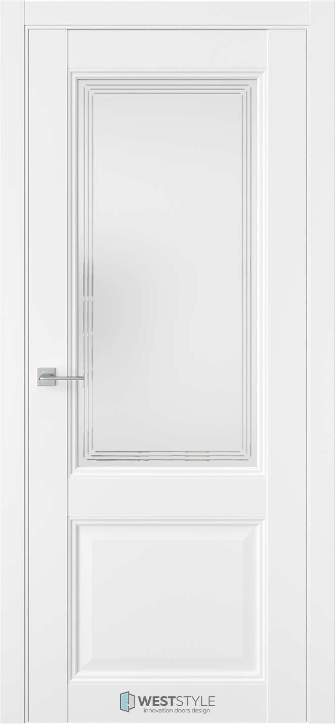 Межкомнатная дверь Межкомнатная дверь TF 4 Emlayer белый стекло 1