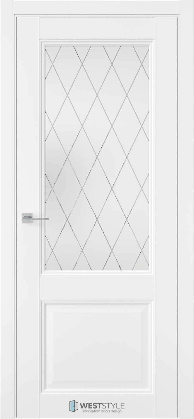 Межкомнатная дверь Межкомнатная дверь TF 4 Emlayer белый стекло 2