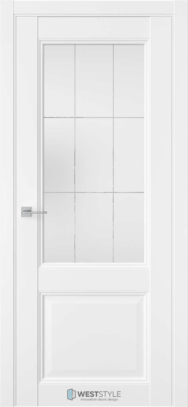 Межкомнатная дверь Межкомнатная дверь TF 4 Emlayer белый стекло 3
