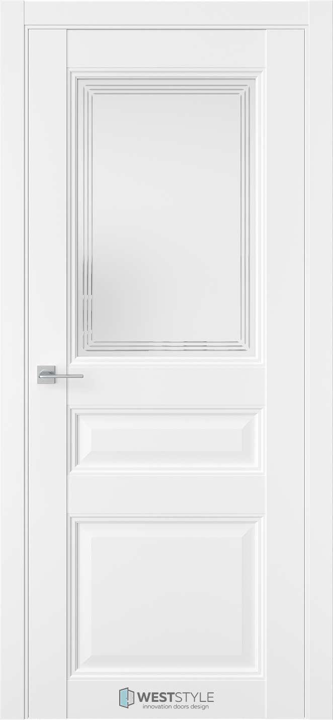 Межкомнатная дверь Межкомнатная дверь TF 6 Emlayer белый стекло 1