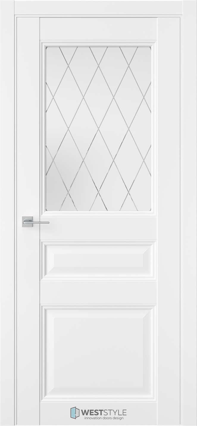 Межкомнатная дверь Межкомнатная дверь TF 6 Emlayer белый стекло 2