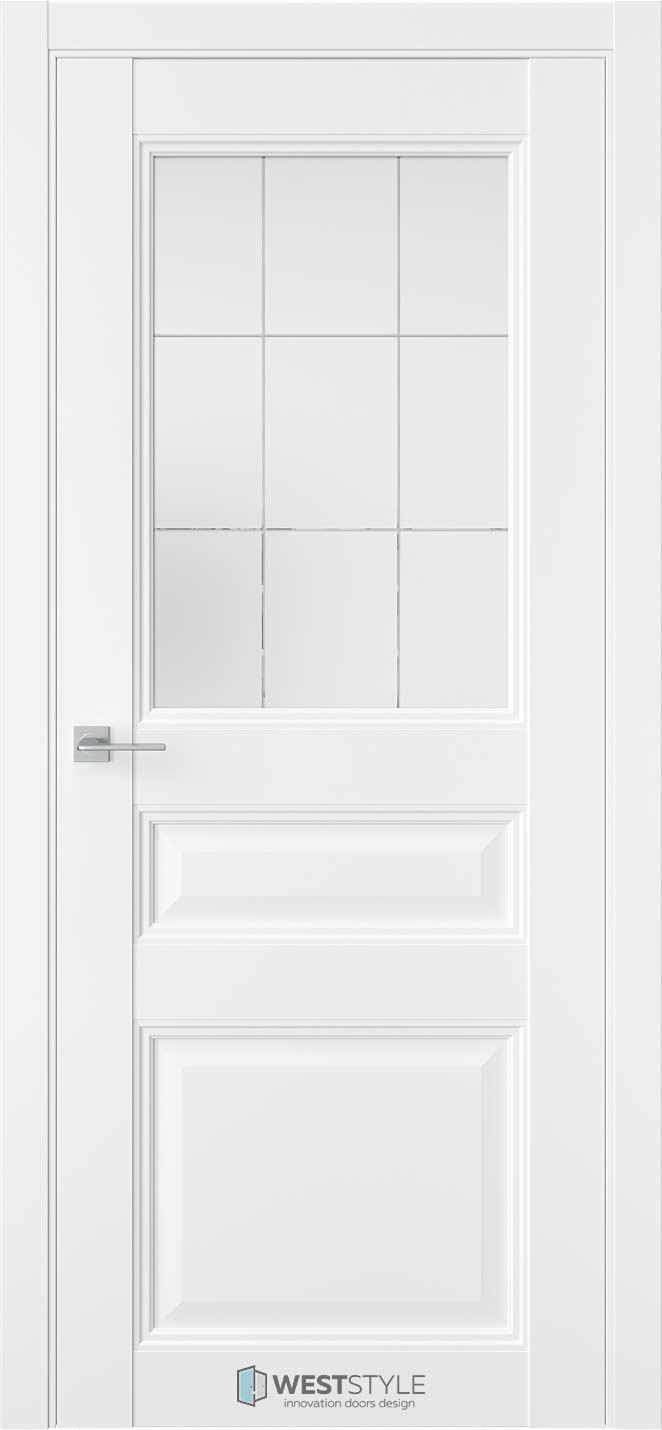 Межкомнатная дверь Межкомнатная дверь TF 6 Emlayer белый стекло 3