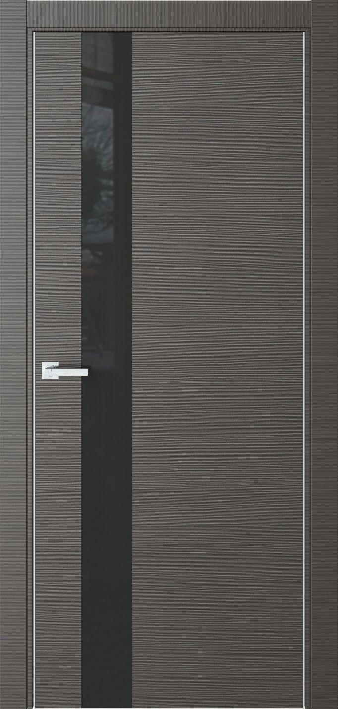 Межкомнатная дверь Межкомнатная дверь Urban U2 Макоре пепельный черное стекло