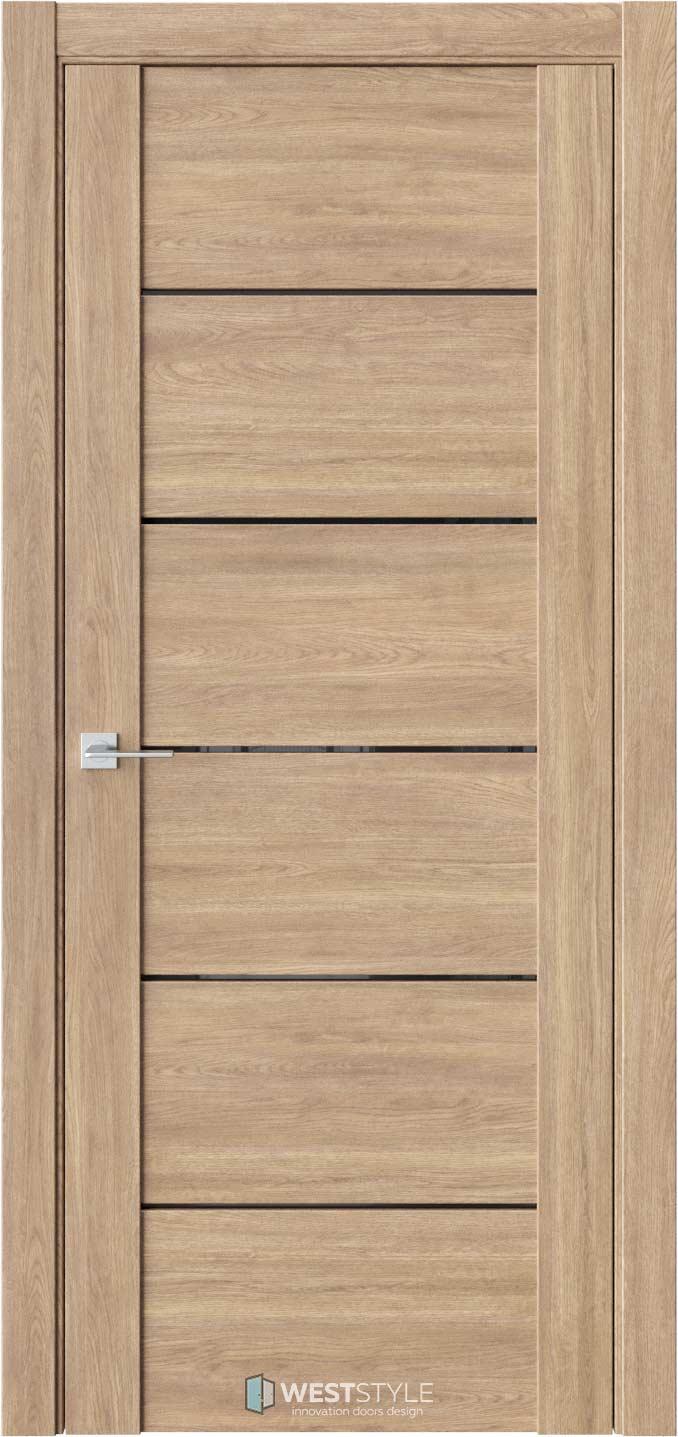 Межкомнатная дверь V 24 Брандо черное стекло