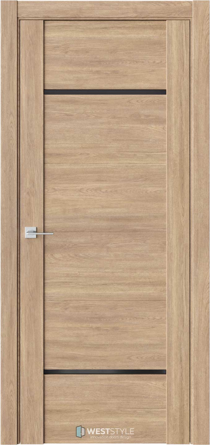 Межкомнатная дверь V 25 Брандо черное стекло