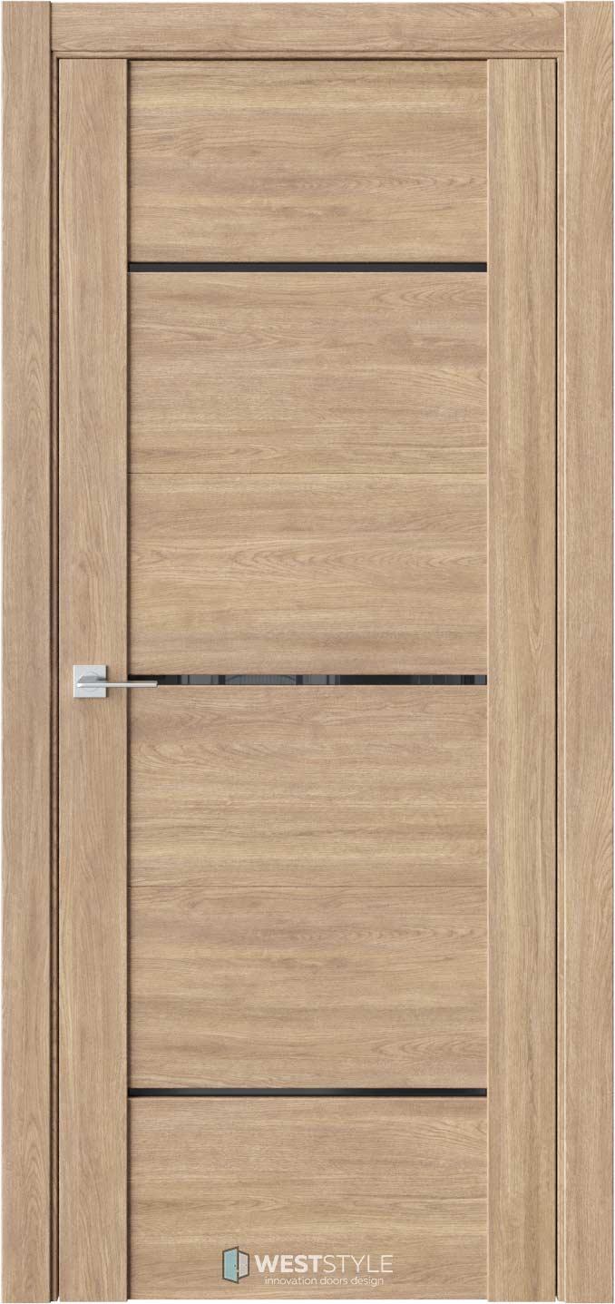 Межкомнатная дверь V 26 Брандо черное стекло