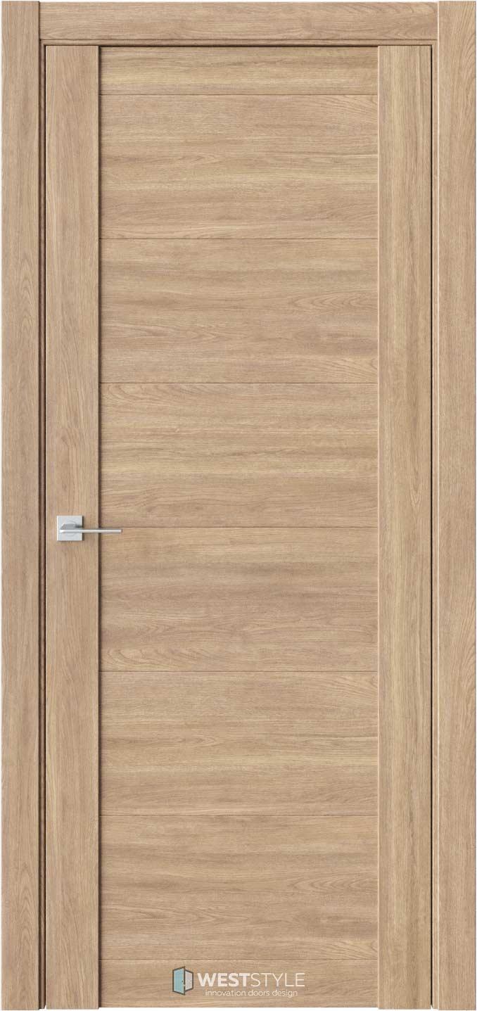 Межкомнатная дверь V 29 Брандо черное стекло