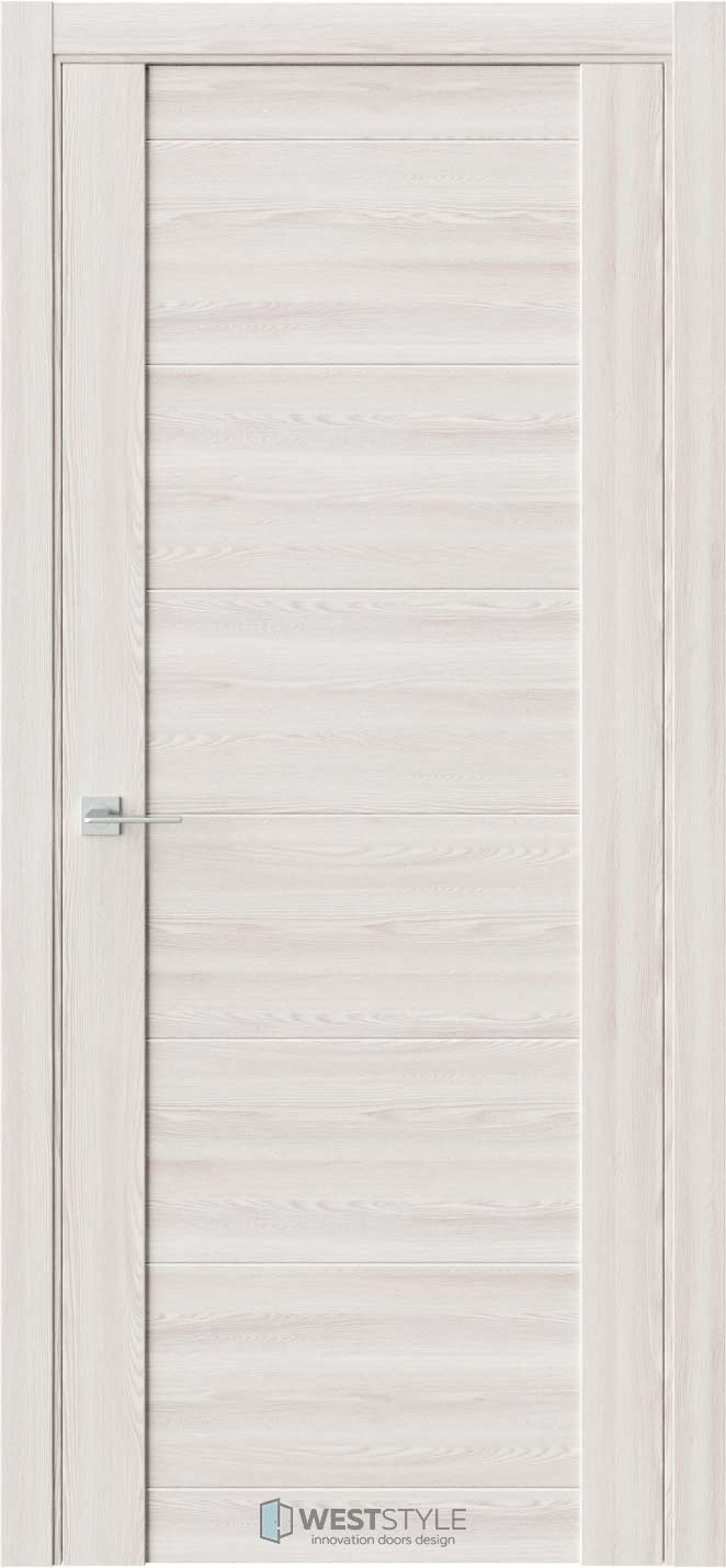 Межкомнатная дверь V 29 Клён Крем черное стекло