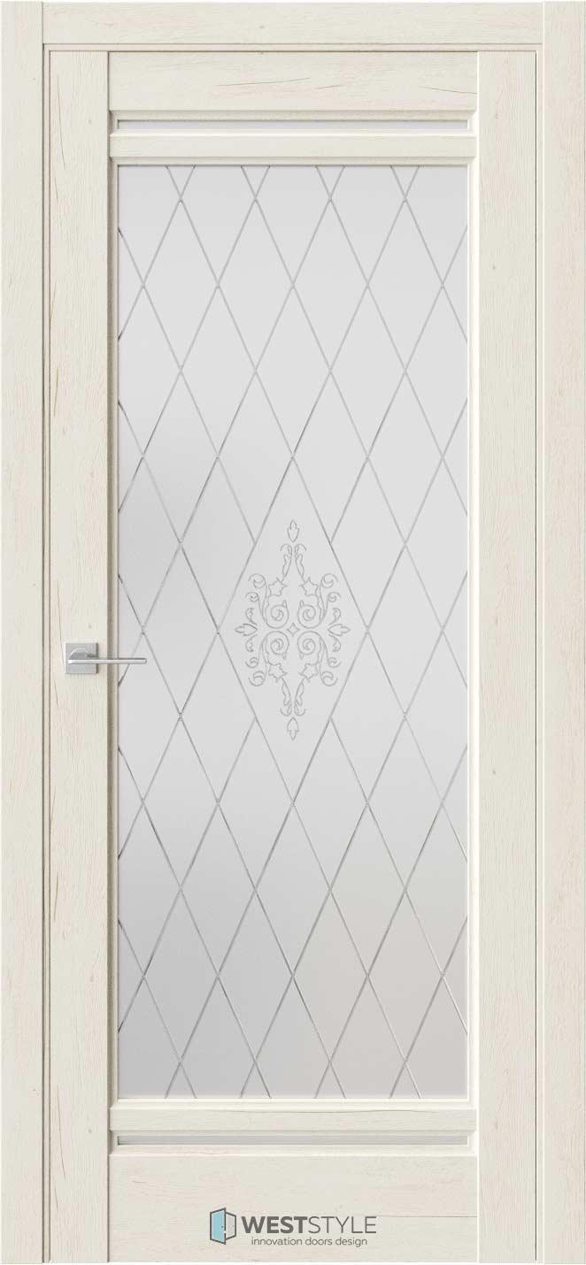 Межкомнатная дверь Межкомнатная дверь WSE 2 Дуб джентл стекло 1