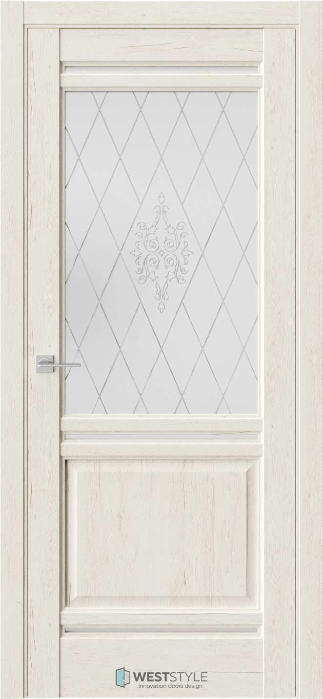 Межкомнатная дверь Межкомнатная дверь WSE 4 Дуб джентл стекло 1