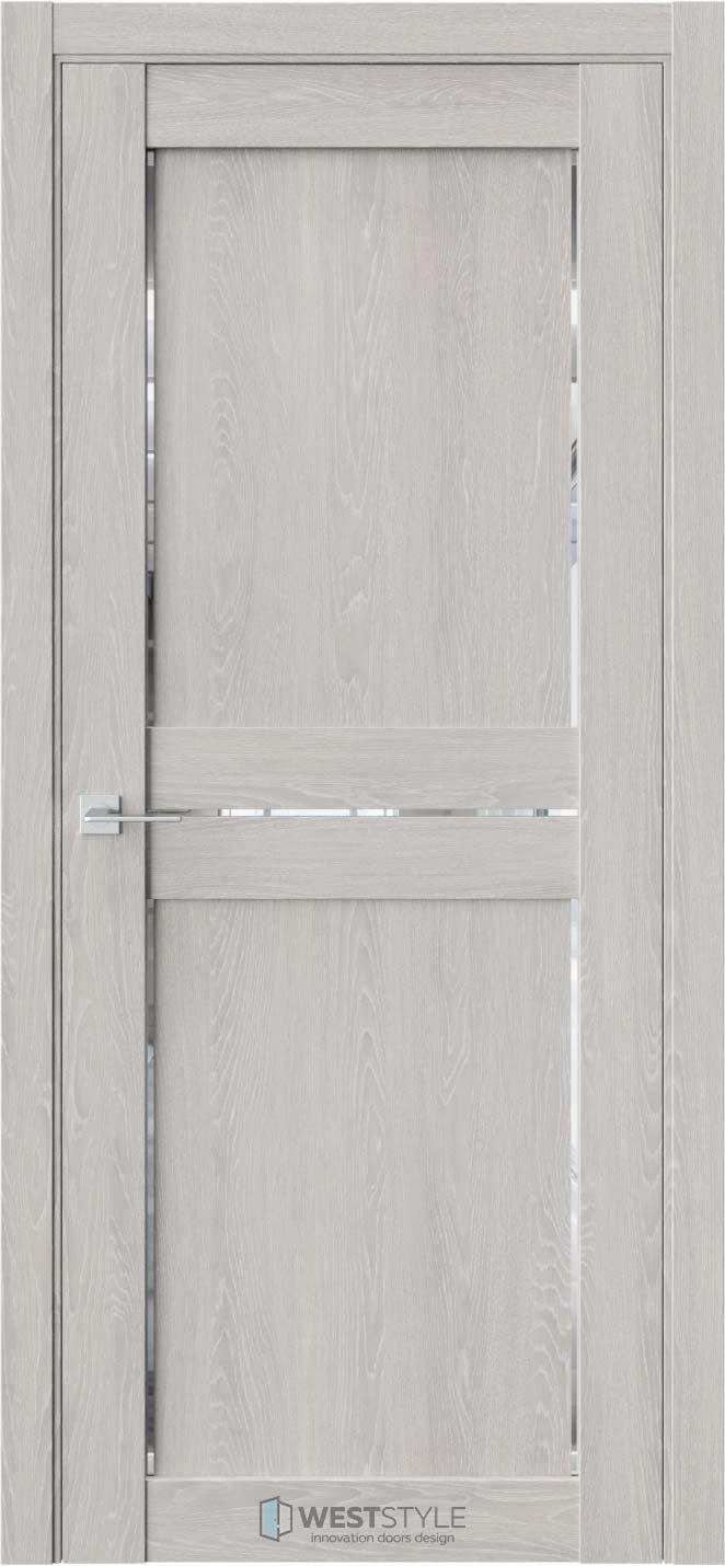 Межкомнатная дверь XC 1 Дуб Серый стекло
